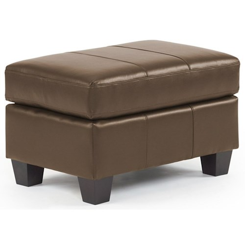 Best Home Furnishings Hammond Ottoman with Stitching and Block Feet
