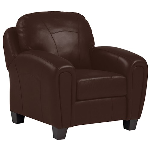 Best Home Furnishings Hammond Club Chair with Accent Stitching and Block Feet