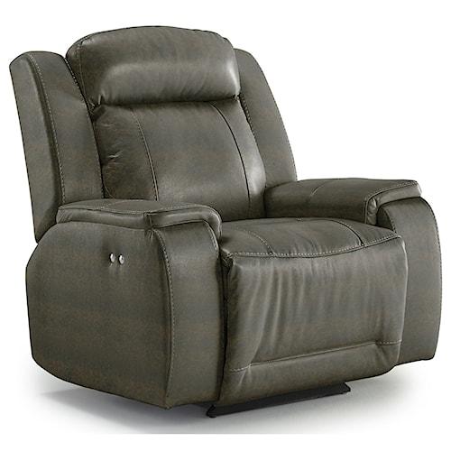 Best Home Furnishings Hardisty Casual Power Rocker Recliner with Memory Foam Cushions