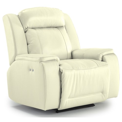 Best Home Furnishings Hardisty Casual Power Rocker Recliner with Memory Foam Cushions