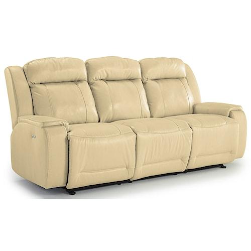 Best Home Furnishings Hardisty Casual Reclining Sofa with Memory Foam Cushions
