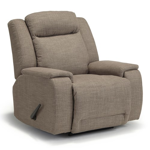Best Home Furnishings Hardisty Casual Swivel Rocker Recliner with Memory Foam Cushions