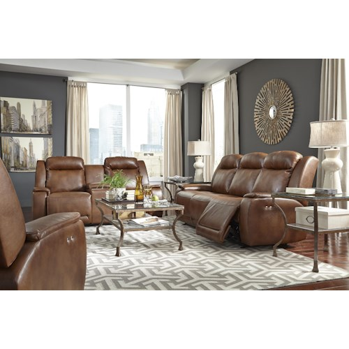 Morris Home Furnishings Hardisty Reclining Living Room Group