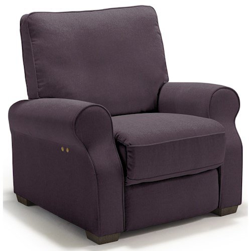 Morris Home Furnishings Hattie Traditional Power High Leg Recliner
