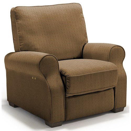 Best Home Furnishings Hattie Traditional Power High Leg Recliner