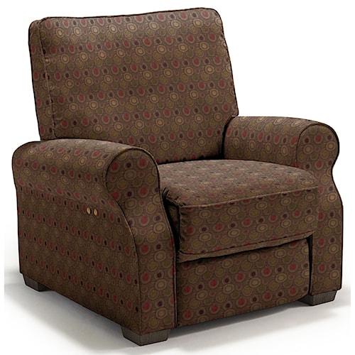 Best Home Furnishings Hattie Traditional Power High Leg Recliner