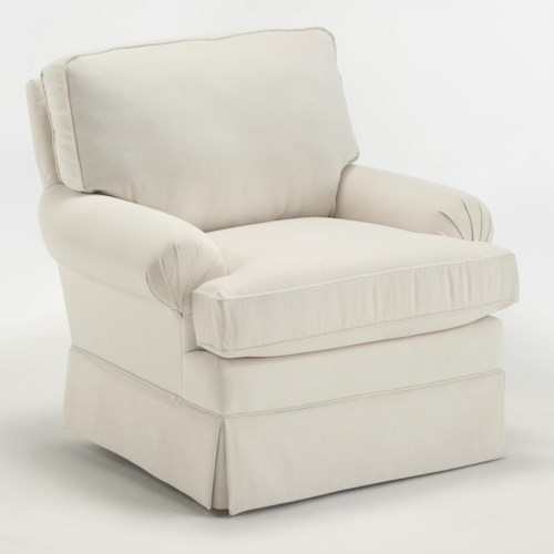 Morris Home Furnishings Kamilla Kamilla Skirted Club Chair