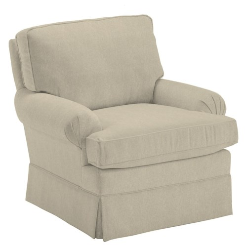 Best Home Furnishings Kamilla Kamilla Swivel Glider with Skirted Base