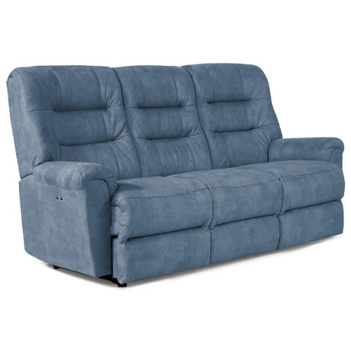 Best Home Furnishings Langston Casual Reclining Sofa with Automotive-Inspired Design