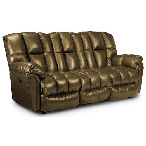 Best Home Furnishings Lucas Casual Plush Power Reclining Sofa with Full-Coverage Chaise Legrest