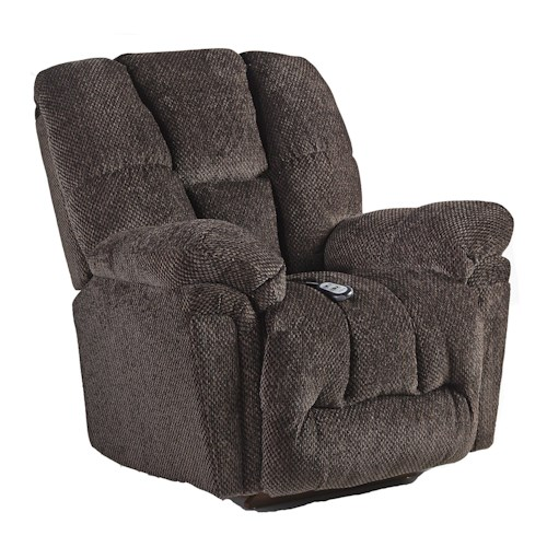 Vendor 411 Lucas Casual Swivel Rocker Recliner with Full-Coverage Chaise Legrest