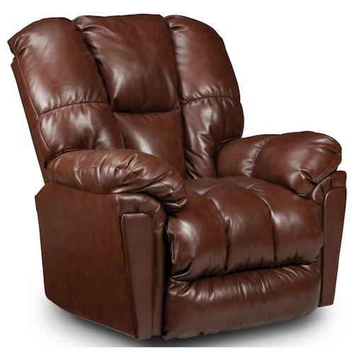 Morris Home Furnishings Lucas Casual Swivel Rocker Recliner with Full-Coverage Chaise Legrest