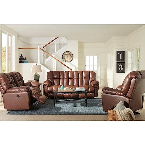 Morris Home Furnishings Lucas Reclining Living Room Group