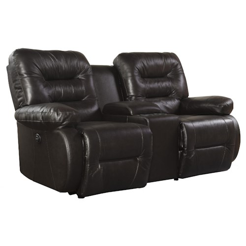 Best Home Furnishings Maddox Power Rocker Console Loveseat with Pillow Arms