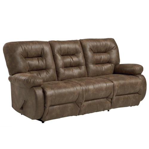 Best Home Furnishings Maddox Power Space Saver Sofa Chaise with Pillow Arms