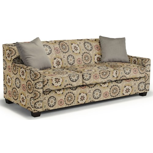 Best Home Furnishings Marinette Queen-Sized Sleeper with Toss Pillows