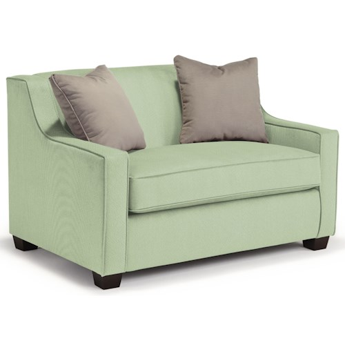 Best Home Furnishings Marinette Twin-Size Sleeper Chair with Toss Pillows
