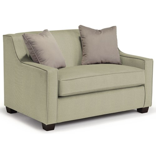 Best Home Furnishings Marinette Twin-Size Air Dream Sleeper Chair with Toss Pillows
