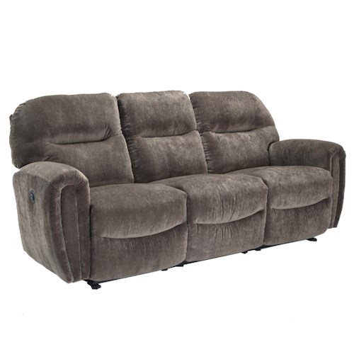 Morris Home Furnishings Markson Power Space Saver Sofa Chaise with Dome Track Arms