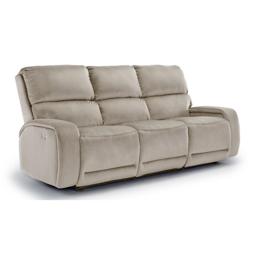 Morris Home Furnishings Matthew Power Reclining Sofa with Memory Foam Cushion