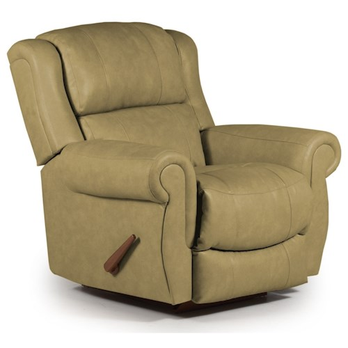 Best Home Furnishings Recliners - Medium Terrill Swivel Glider Recliner with Rolled Arms