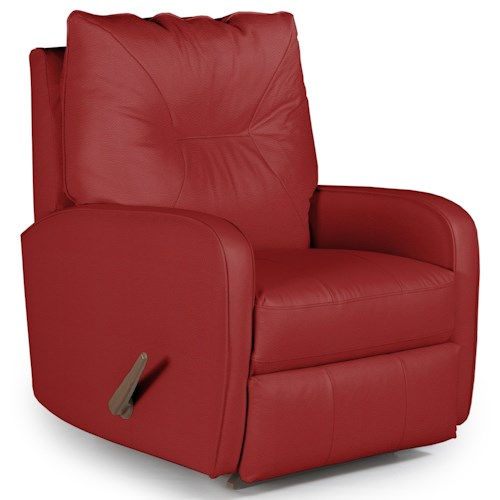 Vendor 411 Recliners - Medium Contemporary Ingall Rocker Recliner in Sleek Modern Style