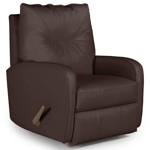 Best Home Furnishings Recliners - Medium Contemporary Ingall Rocker Recliner in Sleek Modern Style