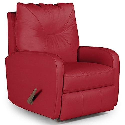 Best Home Furnishings Recliners - Medium Contemporary Ingall Rocker Recliner in Sleek Modern Style