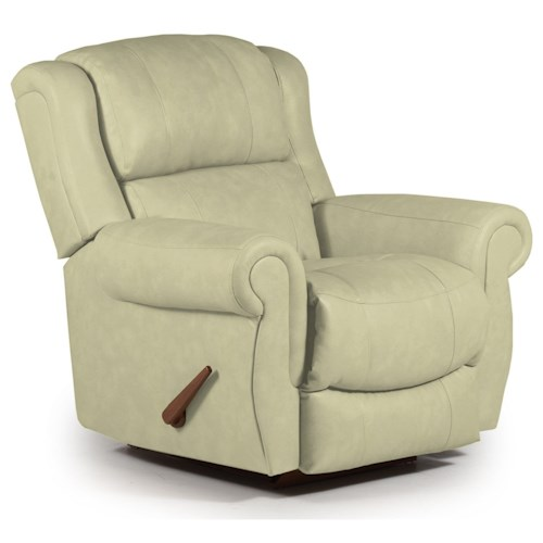 Best Home Furnishings Recliners - Medium Terrill Swivel Rocker Recliner with Rolled Arms