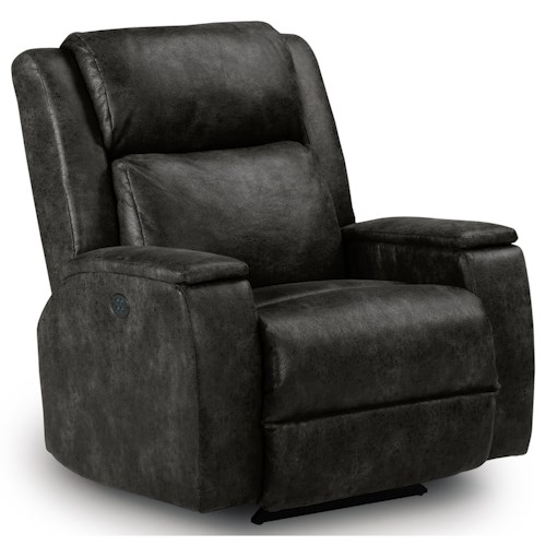 Best Home Furnishings Recliners - Medium Colton Power Rocker Recliner with Power Adjustable Headrest