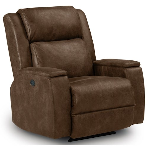 Best Home Furnishings Recliners - Medium Colton Power Rocker Recliner with Power Adjustable Headrest