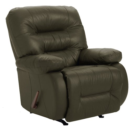 Best Home Furnishings Recliners - Medium Maddox Rocker Recliner with Line-Tufted Back
