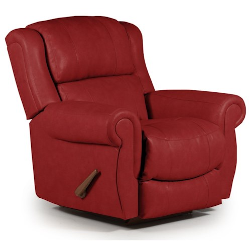 Best Home Furnishings Recliners - Medium Terrill Rocker Recliner with Rolled Arms