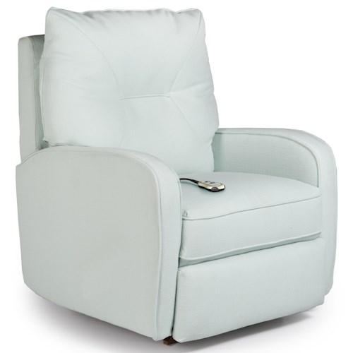 Best Home Furnishings Recliners - Medium Contemporary Ingall Power Lift Recliner in Sleek Modern Style