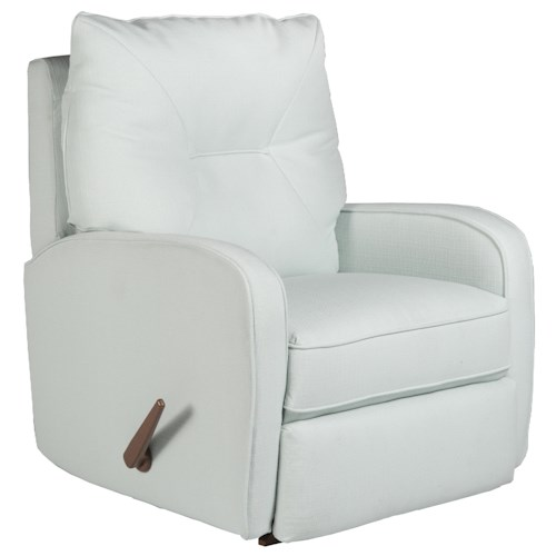 Best Home Furnishings Recliners - Medium Contemporary Ingall Swivel Rocker Recliner in Sleek Modern Style