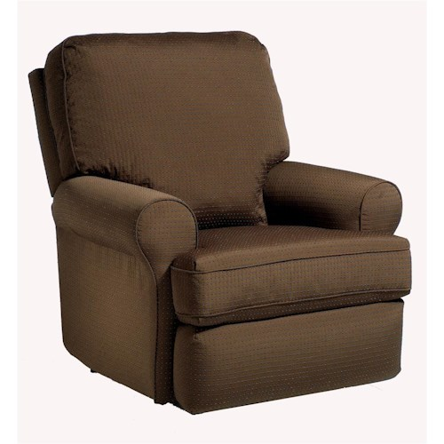 Best Home Furnishings Recliners - Medium Tryp Rocker Recliner with Inside Handle