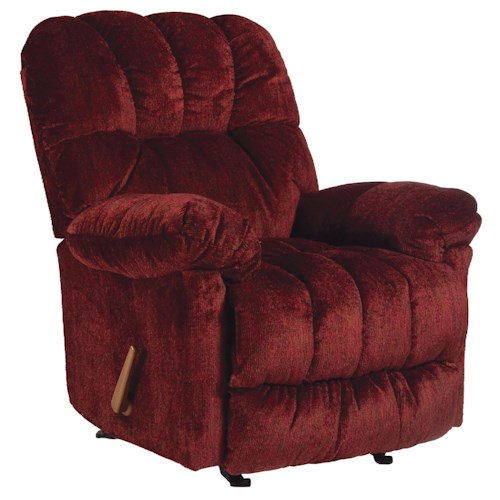 Best Home Furnishings Recliners - Medium McGinnis Casual Space Saver Recliner with Plush Upholstered Arms