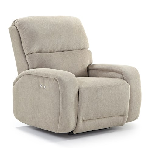 Best Home Furnishings Recliners - Medium Matthew Power Space Saver Recliner with Memory Foam Cushion