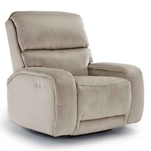 Best Home Furnishings Recliners - Medium Matthew Power Rocker Recliner with Memory Foam Cushion