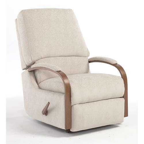 Best Home Furnishings Recliners - Medium Pike Swivel Rocking Reclining Chair