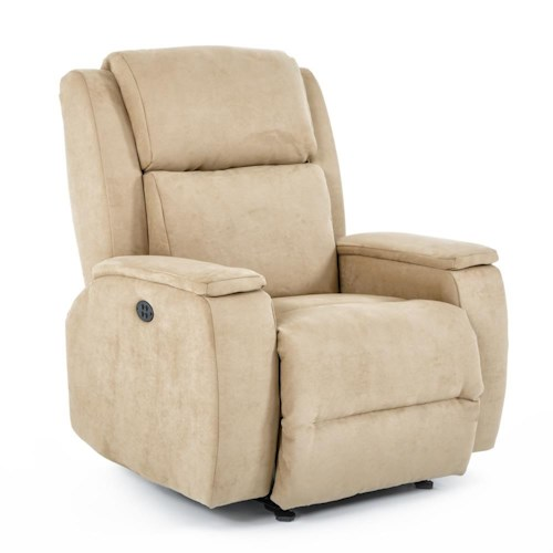 Best Home Furnishings Recliners - Medium Colton Power Space Saver Recliner with Power Adjustable Headrest