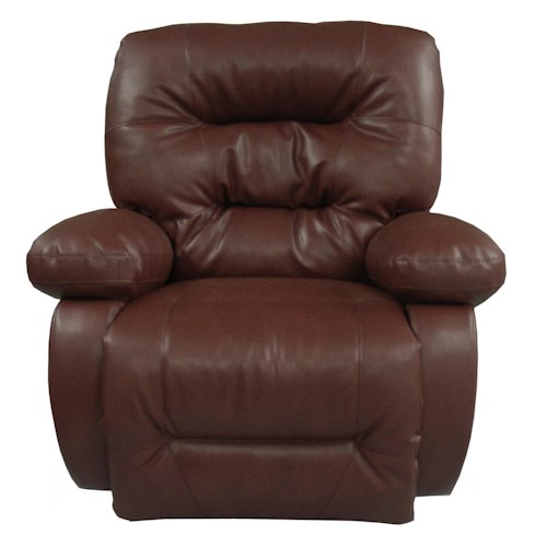 Vendor 411 Recliners - Medium Maddox Swivel Glider Recliner with Line-Tufted Back
