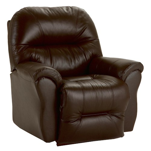 Best Home Furnishings Recliners - Medium Bodie Swivel Rocking Reclining Chair