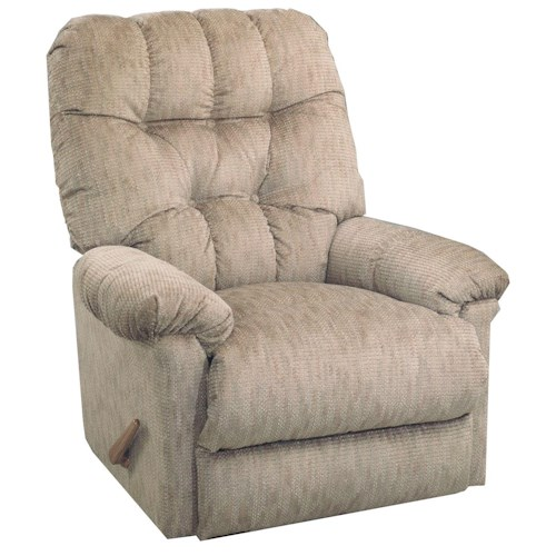 Best Home Furnishings Recliners - Medium Raider Rocker Recliner with Exterior Handle