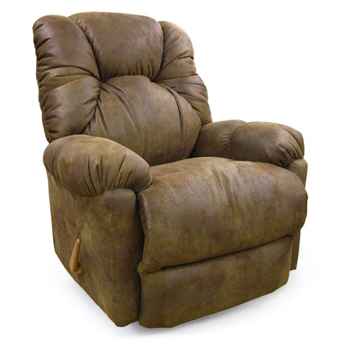 Best Home Furnishings Recliners - Medium Romulus Rocking Reclining Chair