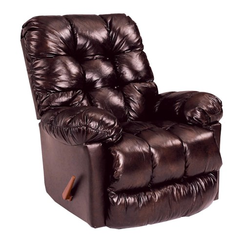 Best Home Furnishings Recliners - Medium Brosmer Swivel Rocker Recliner w/ Massage & Heat
