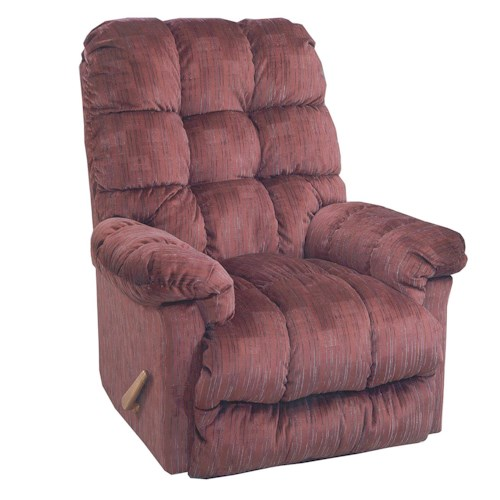 Best Home Furnishings Recliners - Medium Brosmer Rocker Recliner with Massage and Heat