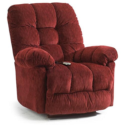 Best Home Furnishings Recliners - Medium Brosmer Swivel Rocker Recliner w/ Massage & Heat