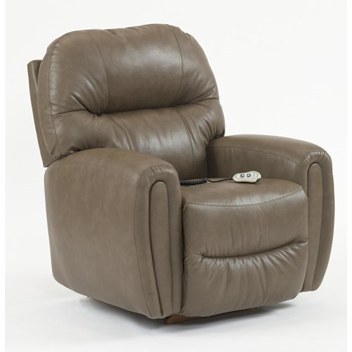 Best Home Furnishings Recliners - Medium Markson Power Rocker Recliner with Dome Arms