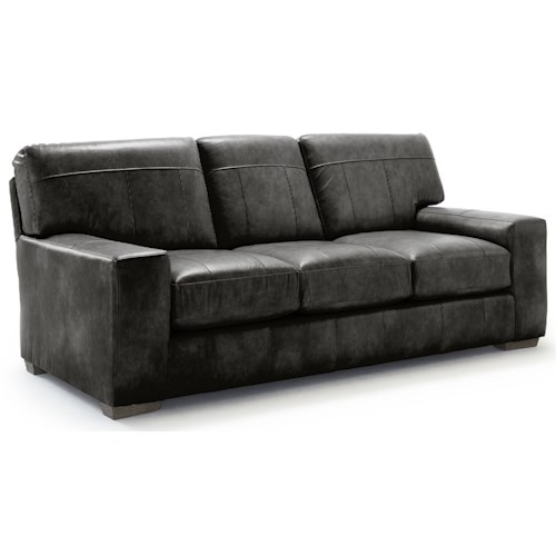 Best Home Furnishings Millport Casual Sofa with Welt Cords and Exposed Block Feet